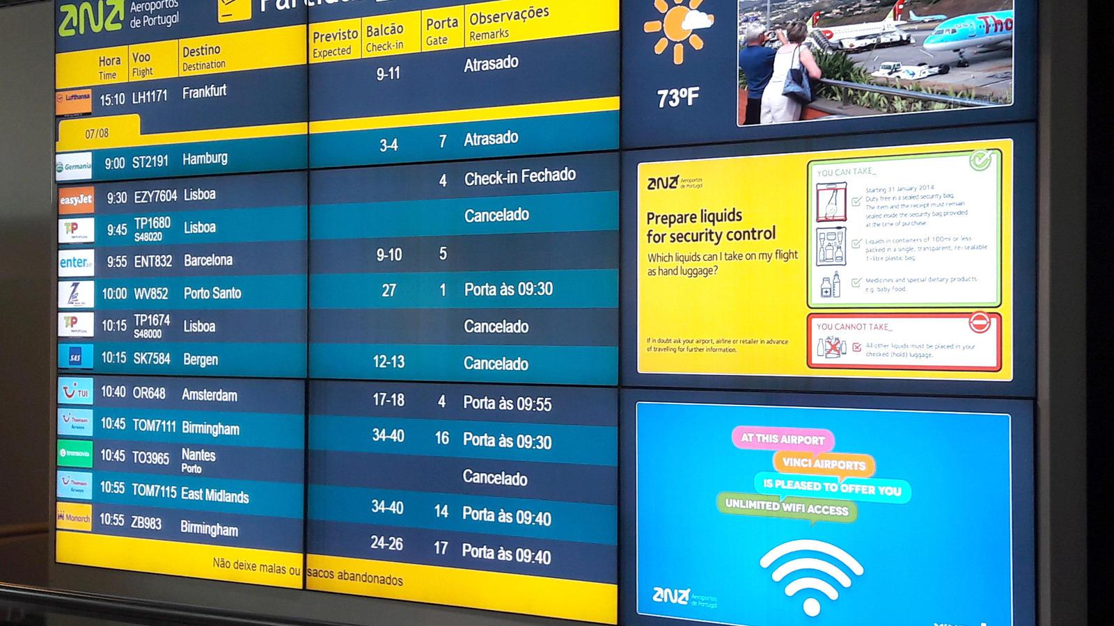 Dutzende Flüge von und nach Madeira wegen heftiger Winde annuliert