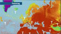 Hoch 'Ludwiga' bringt eher mäßig warme Luft zu uns