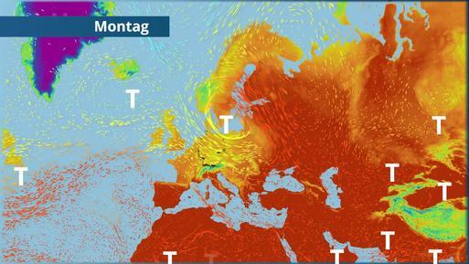 Kühle Atlantikluft gegen feuchtwarme Subtropikluft