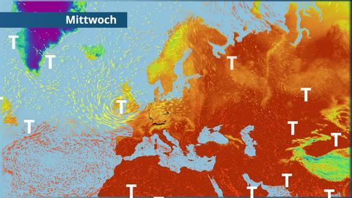 So fegt der Sturm über Deutschland