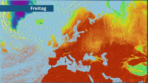 Warme bis heiße Luft über Deutschland