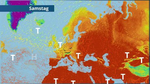 Westliche Strömung über Deutschland