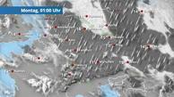 Eine Warmfront bringt harmlose Wolken mit