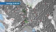 Schauer und Gewitter ziehen von Südwesten nach Osten
